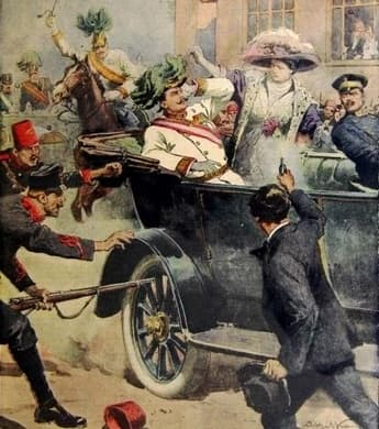 Archduke Ferdinand being ambushed