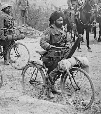 Indian bicycle troops at the Battle of the Somme