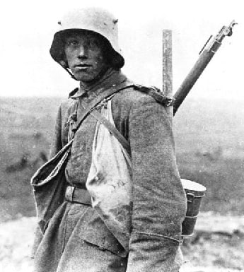 German Soldier at the Battle of the Somme.