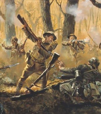 World War One battle scene